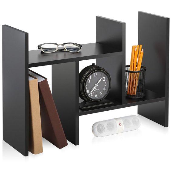 over desk bookshelf