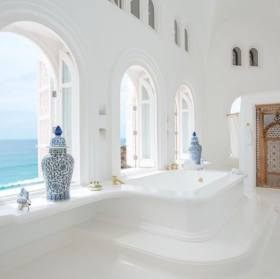 Greek style bathroom