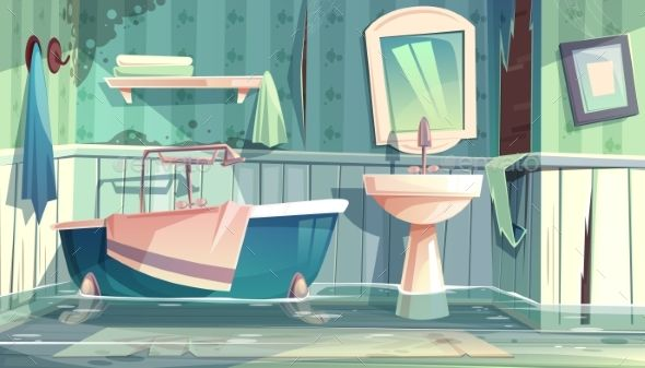 Flooded bathroom, what you need to know!