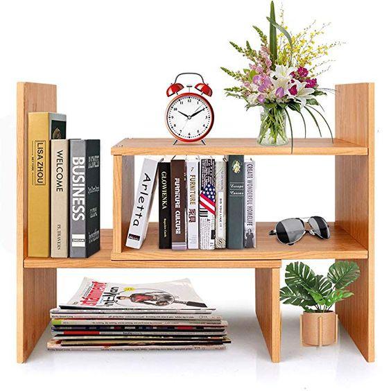 desktop storage shelves