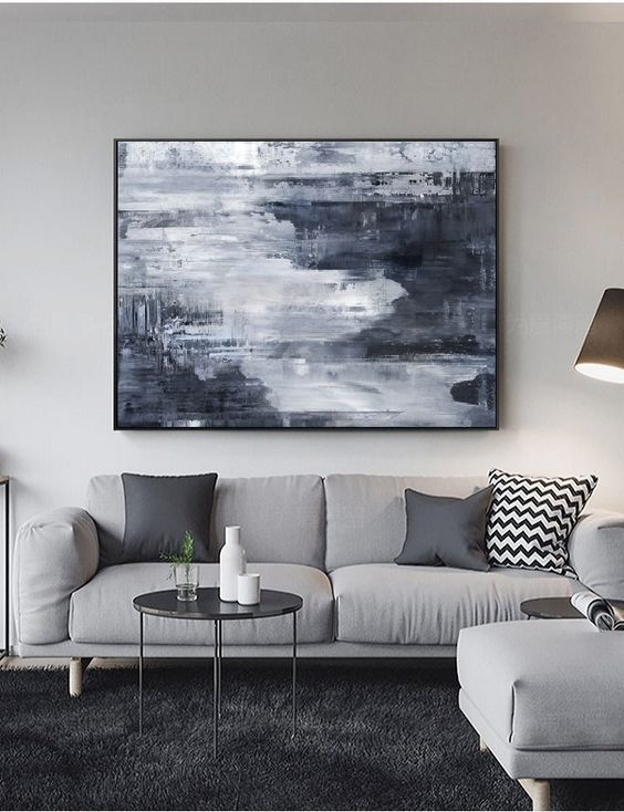 how to decorate a large wall in living room