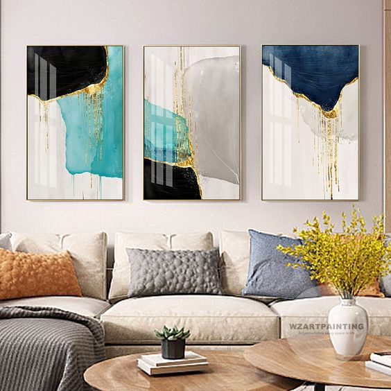how to decorate a big wall